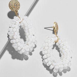 Baublebar Eve Hoop Earrings-White